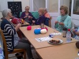 Ladies at the Yard enjoying the Big Knit In
